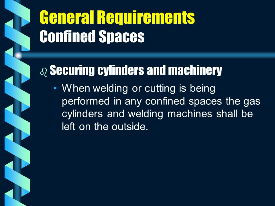 General Requirements Confined Spaces