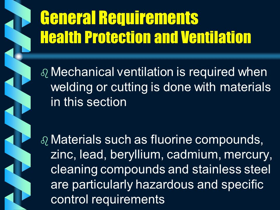 General Requirements Health Protection and Ventilation