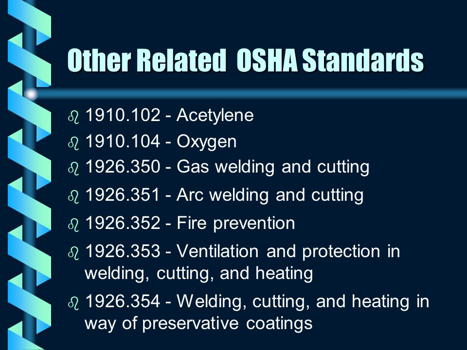 Other Related OSHA Standards
