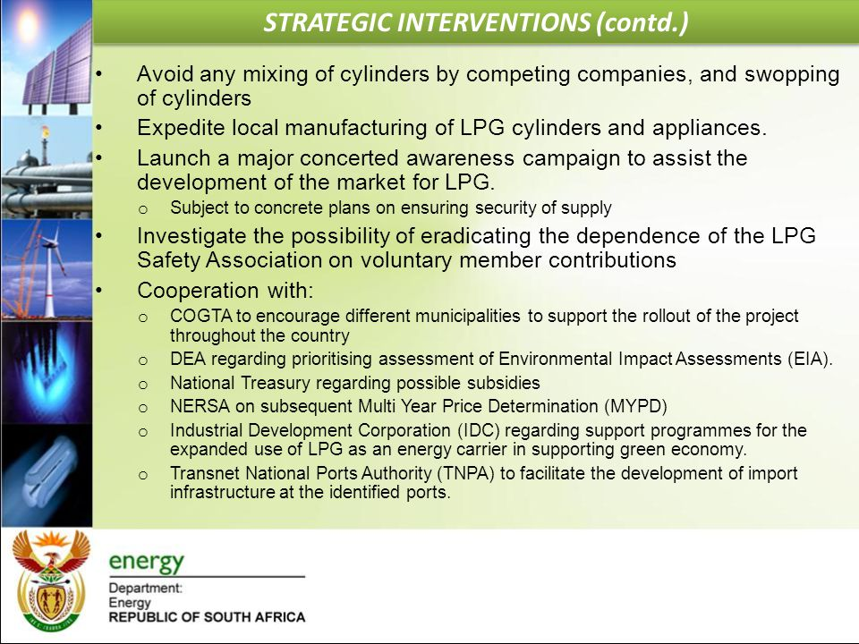 STRATEGIC INTERVENTIONS (contd.)
