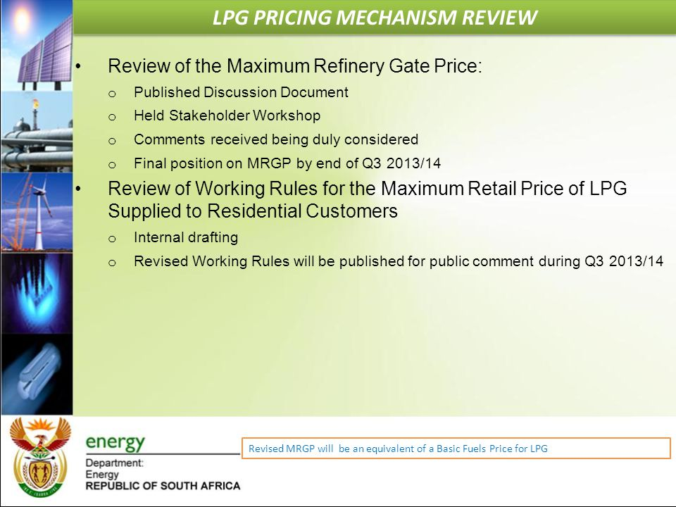 LPG PRICING MECHANISM REVIEW