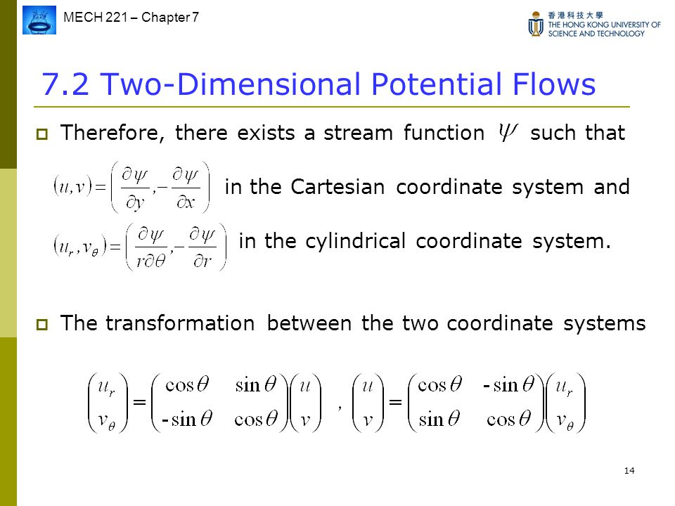 7.2 Two-Dimensional Potential Flows
