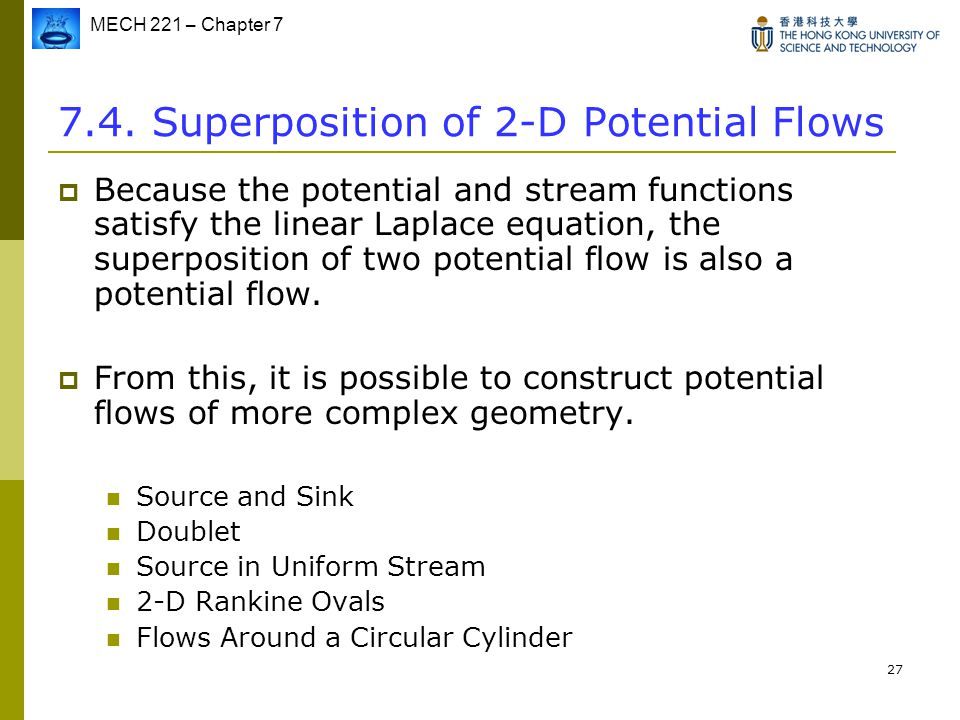 7.4. Superposition of 2-D Potential Flows