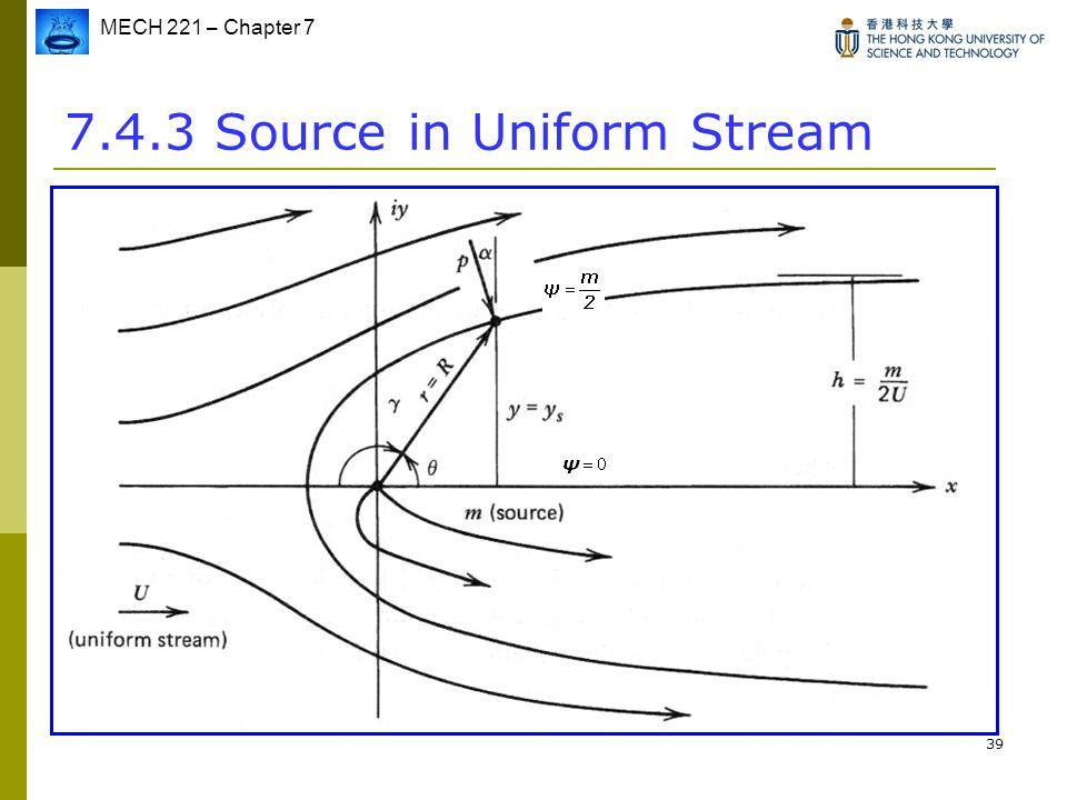7.4.3 Source in Uniform Stream