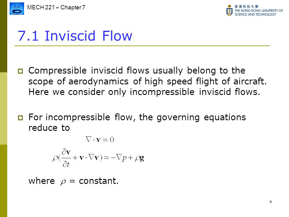 7.1 Inviscid Flow