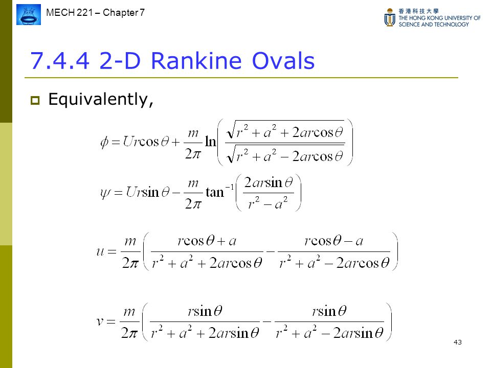 7.4.4 2-D Rankine Ovals Equivalently,