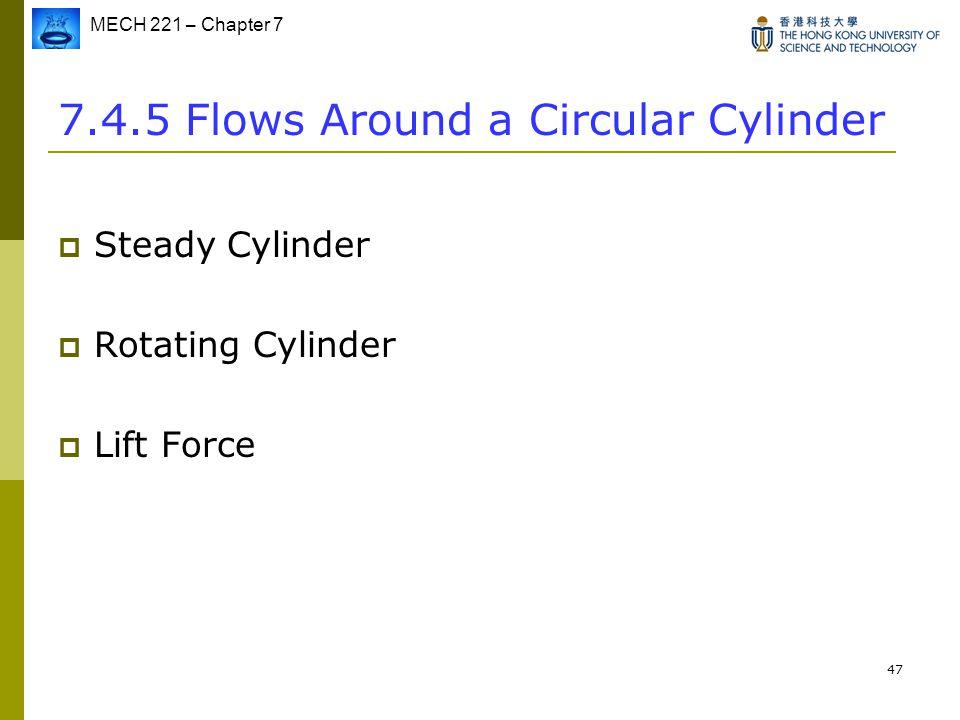 7.4.5 Flows Around a Circular Cylinder