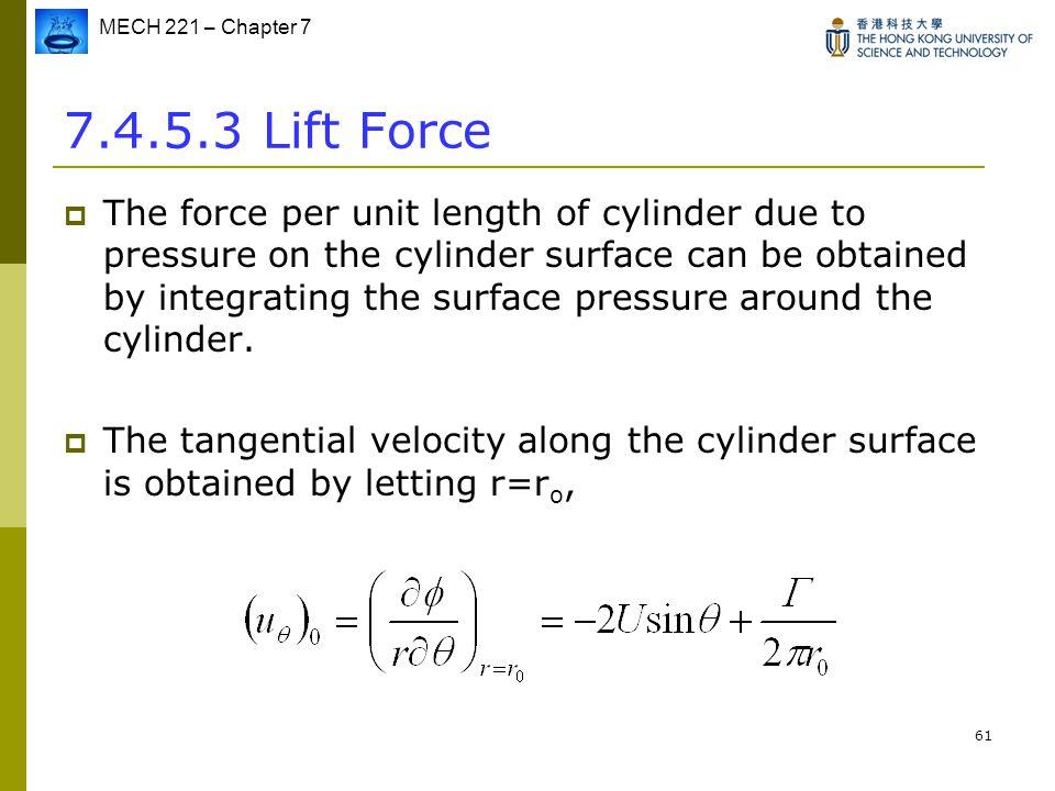 7.4.5.3 Lift Force