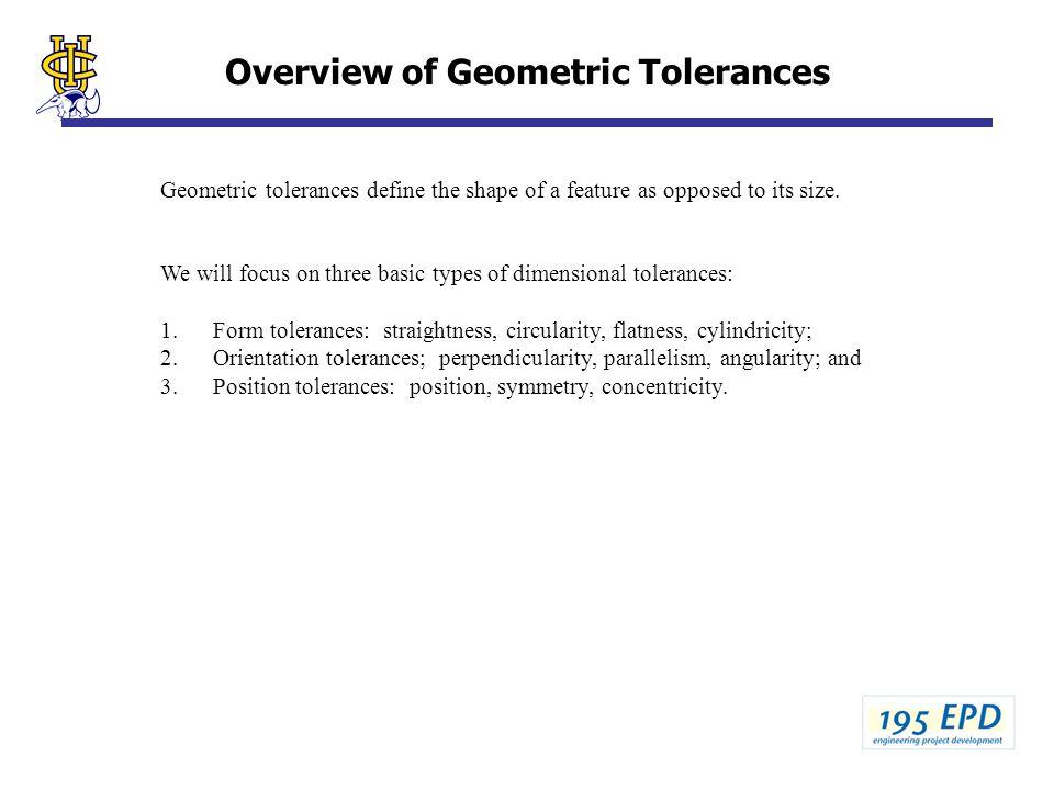 Overview of Geometric Tolerances