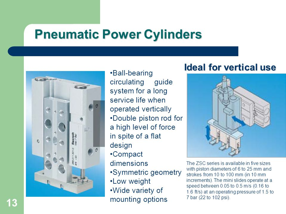 Pneumatic Power Cylinders