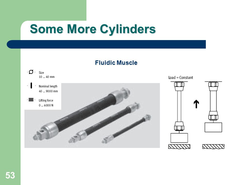 Some More Cylinders Fluidic Muscle