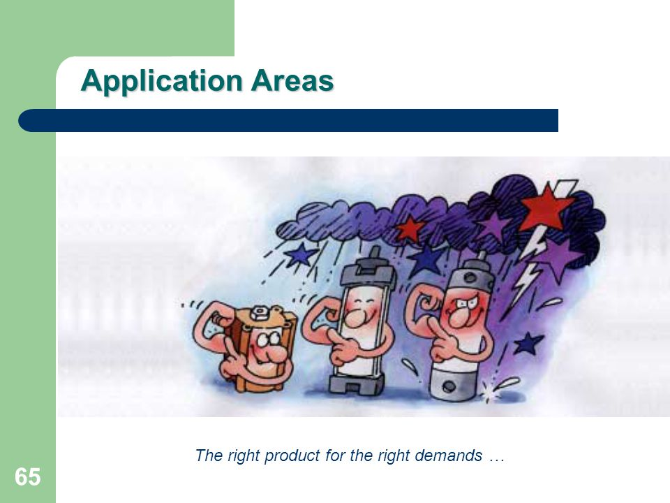 Application Areas The right product for the right demands …