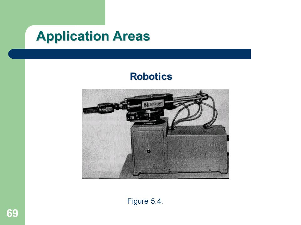 Application Areas Robotics Figure 5.4.