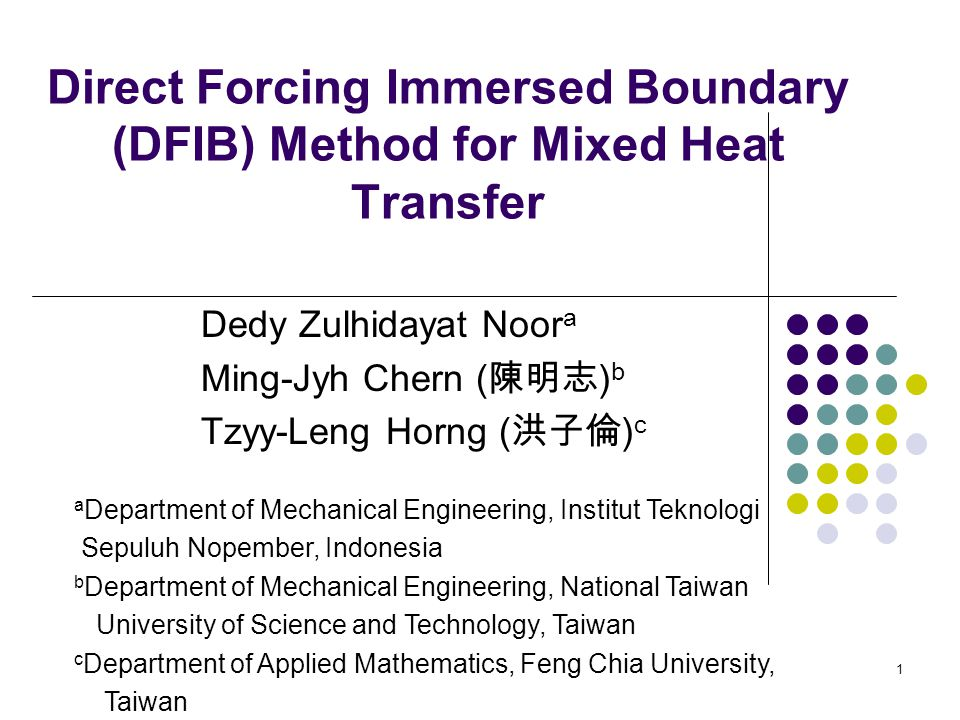 Direct Forcing Immersed Boundary (DFIB) Method for Mixed Heat Transfer
