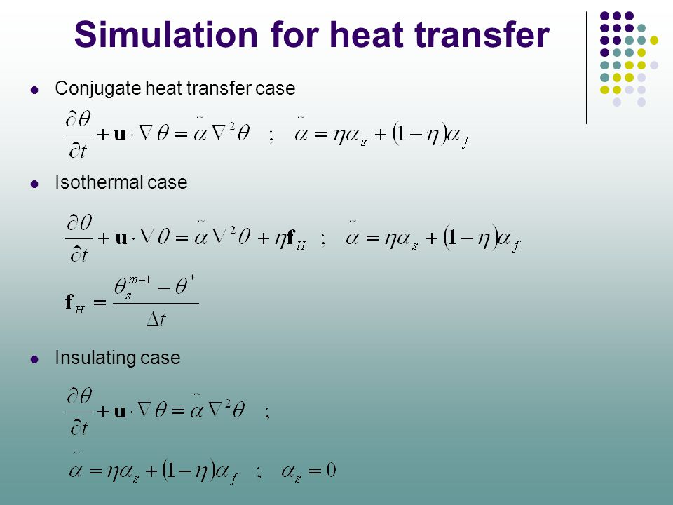 Simulation for heat transfer