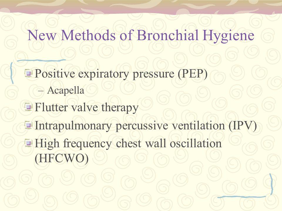New Methods of Bronchial Hygiene