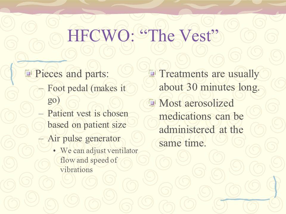 HFCWO: The Vest Pieces and parts: