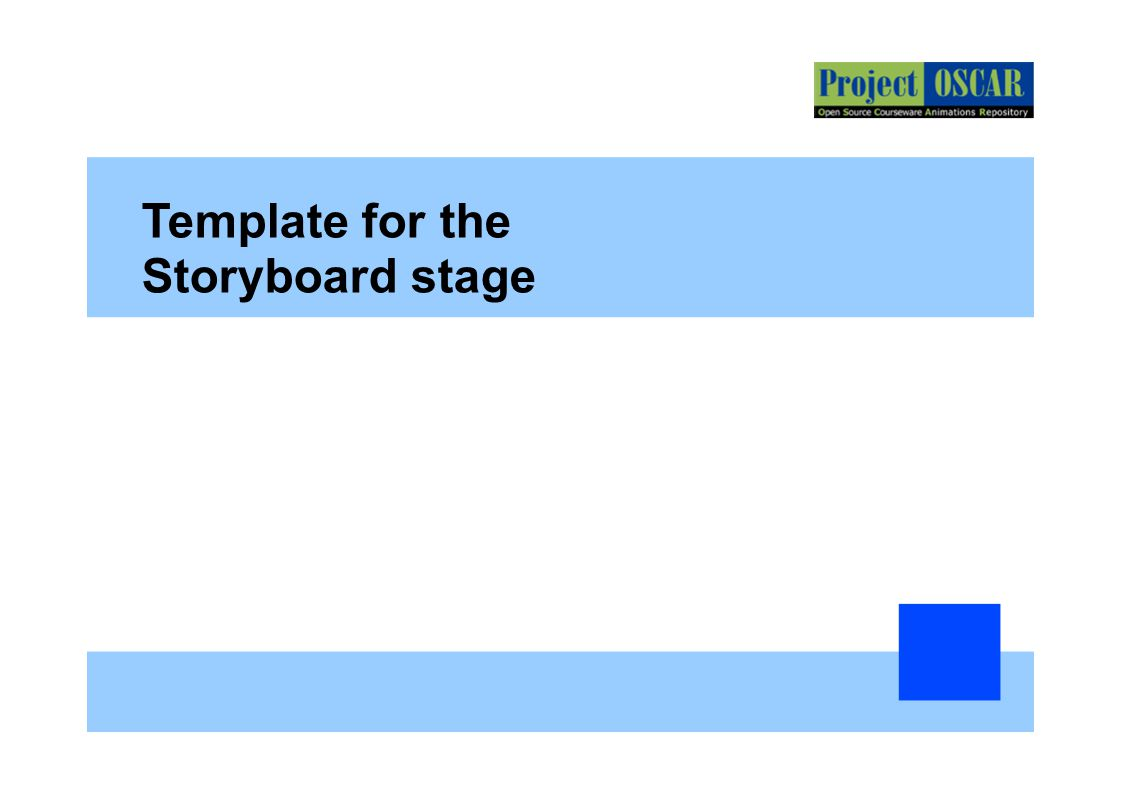 Storyboard Template Powerpoint Presentations