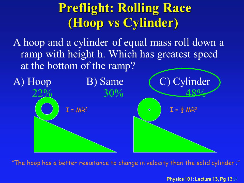 Preflight: Rolling Race (Hoop vs Cylinder)