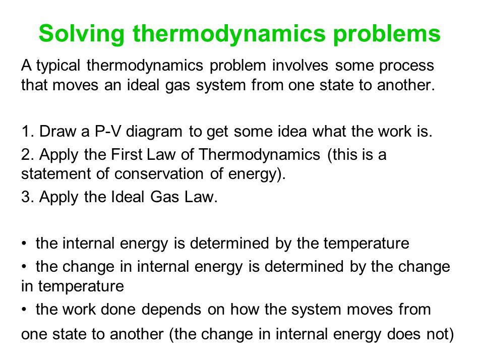 Solving thermodynamics problems