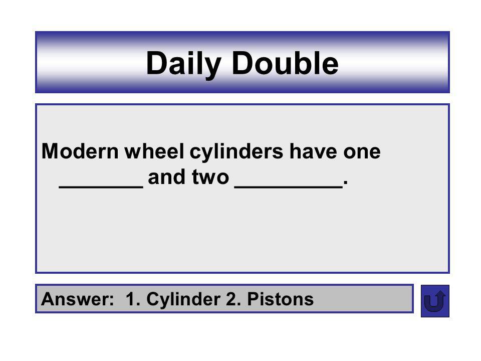 Daily Double Modern wheel cylinders have one _______ and two _________.