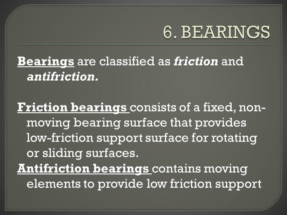 6. BEARINGS