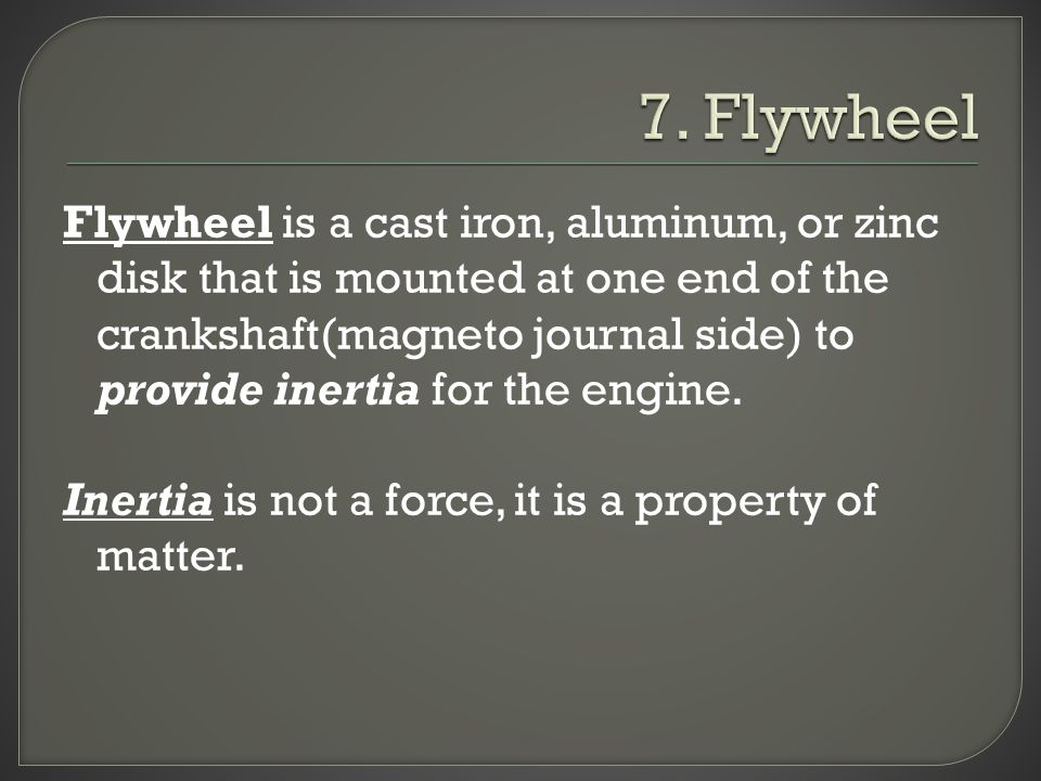7. Flywheel