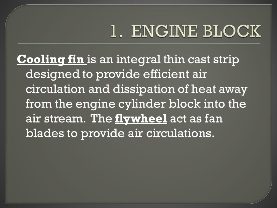 1. ENGINE BLOCK