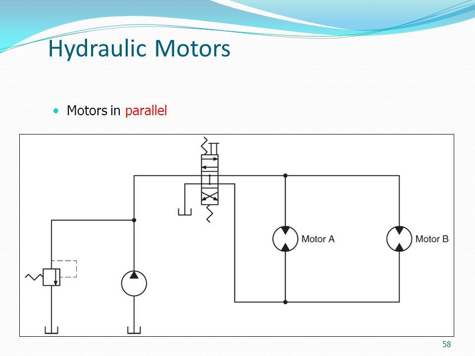 Hydraulic Motors Motors in parallel