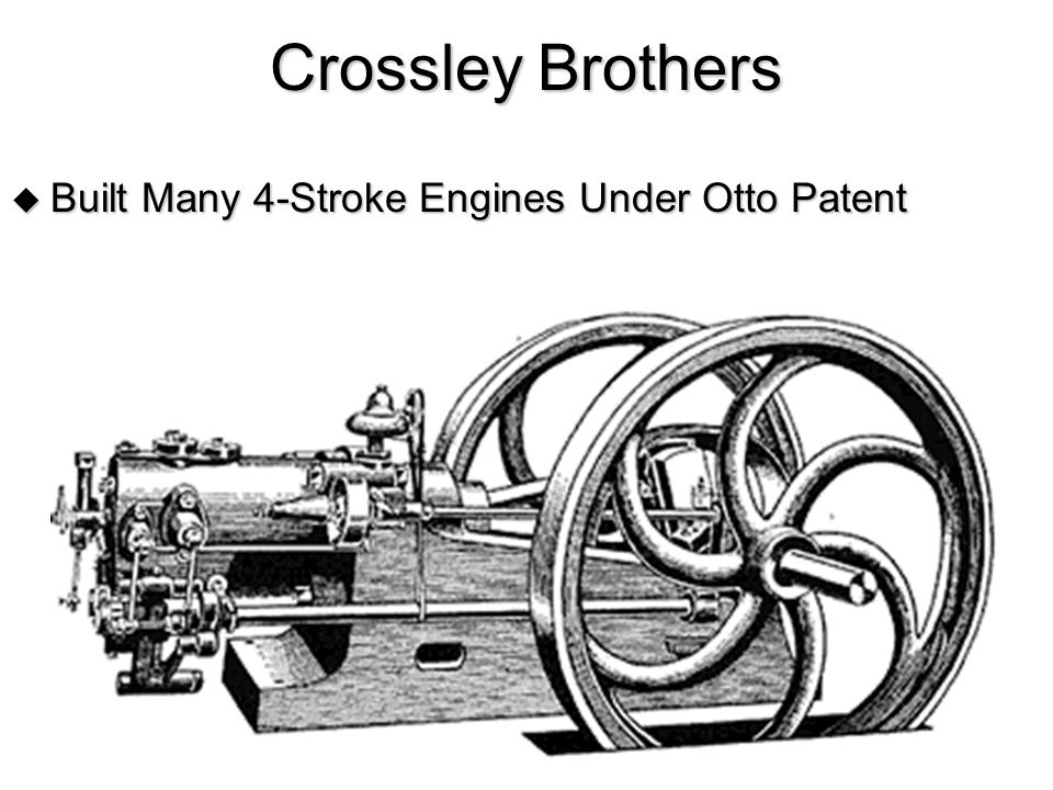 Crossley Brothers Built Many 4-Stroke Engines Under Otto Patent
