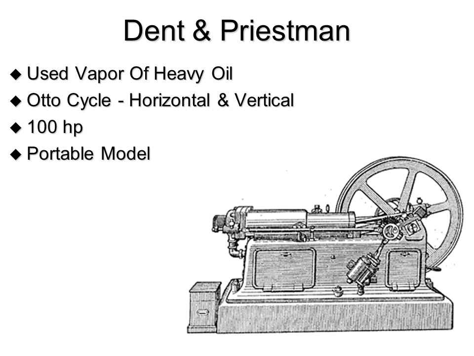 Dent & Priestman Used Vapor Of Heavy Oil