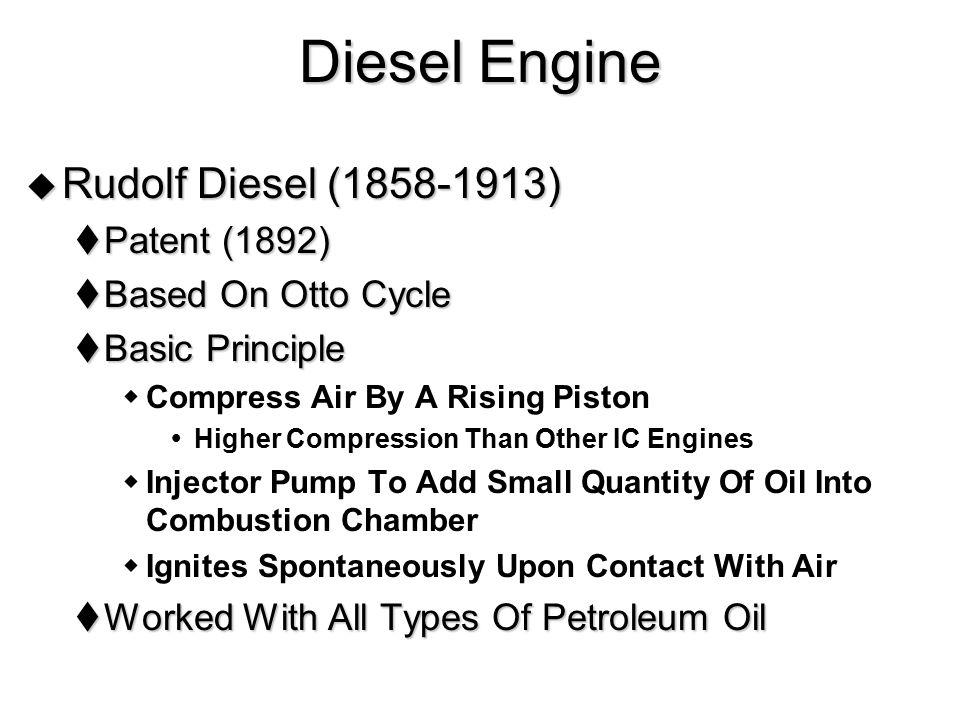 Diesel Engine Rudolf Diesel (1858-1913) Patent (1892)