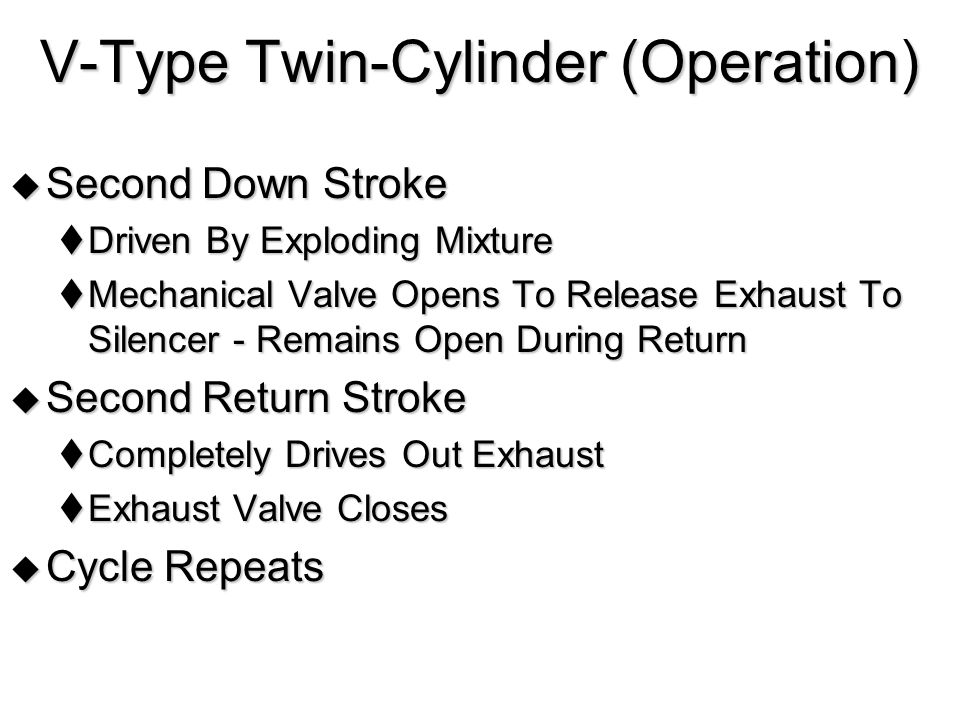V-Type Twin-Cylinder (Operation)