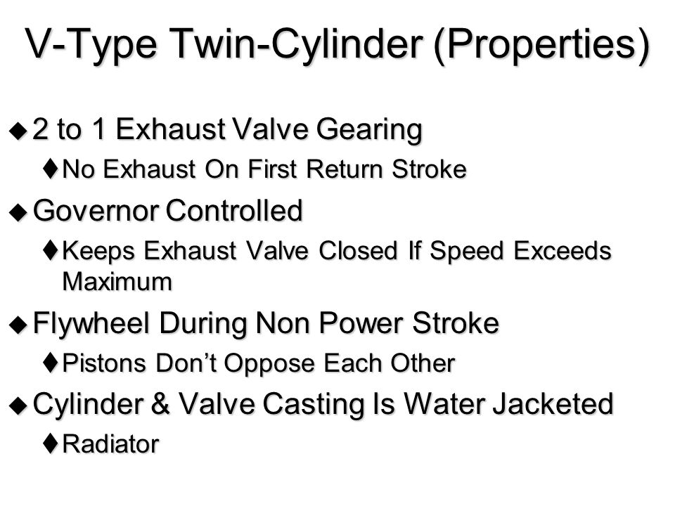 V-Type Twin-Cylinder (Properties)