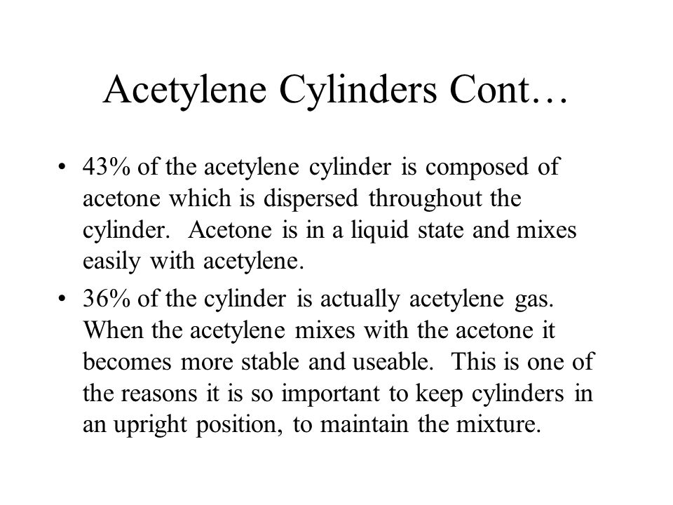 Acetylene Cylinders Cont…