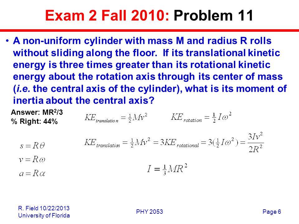 Exam 2 Fall 2010: Problem 11