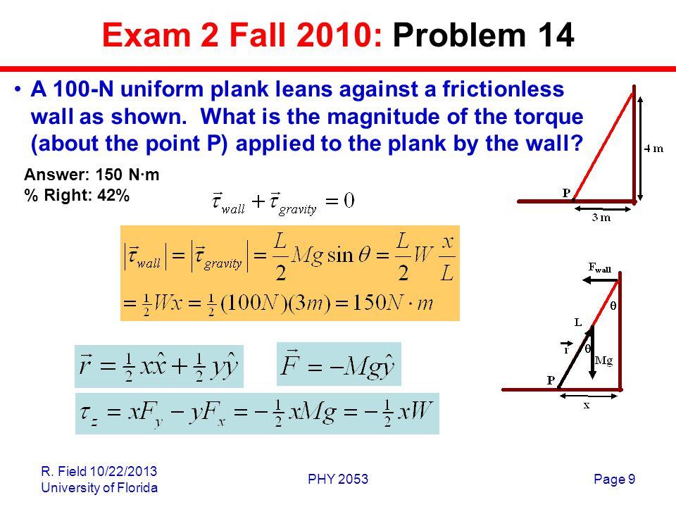 Exam 2 Fall 2010: Problem 14