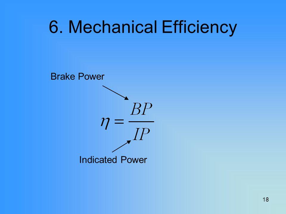 6. Mechanical Efficiency