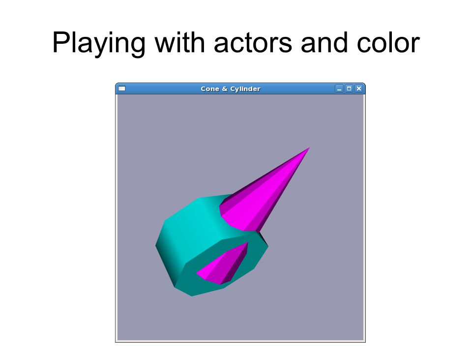Playing with actors and color