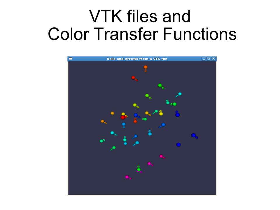 VTK files and Color Transfer Functions