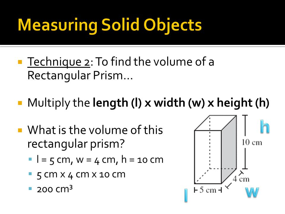 Measuring Solid Objects