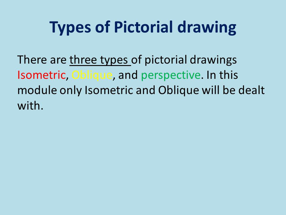 Types of Pictorial drawing