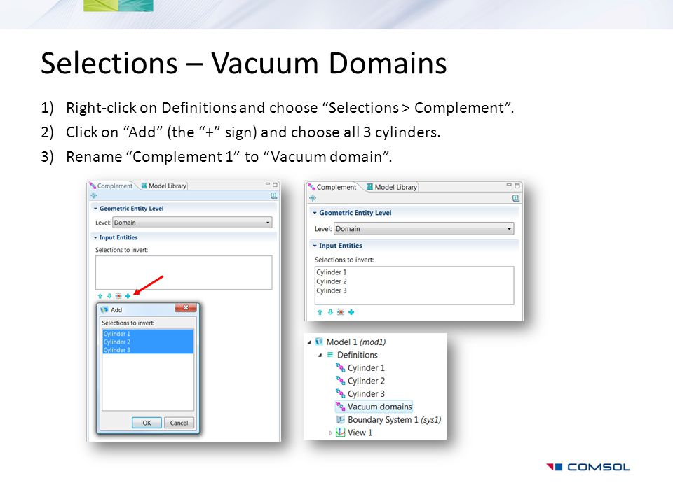 Selections – Vacuum Domains