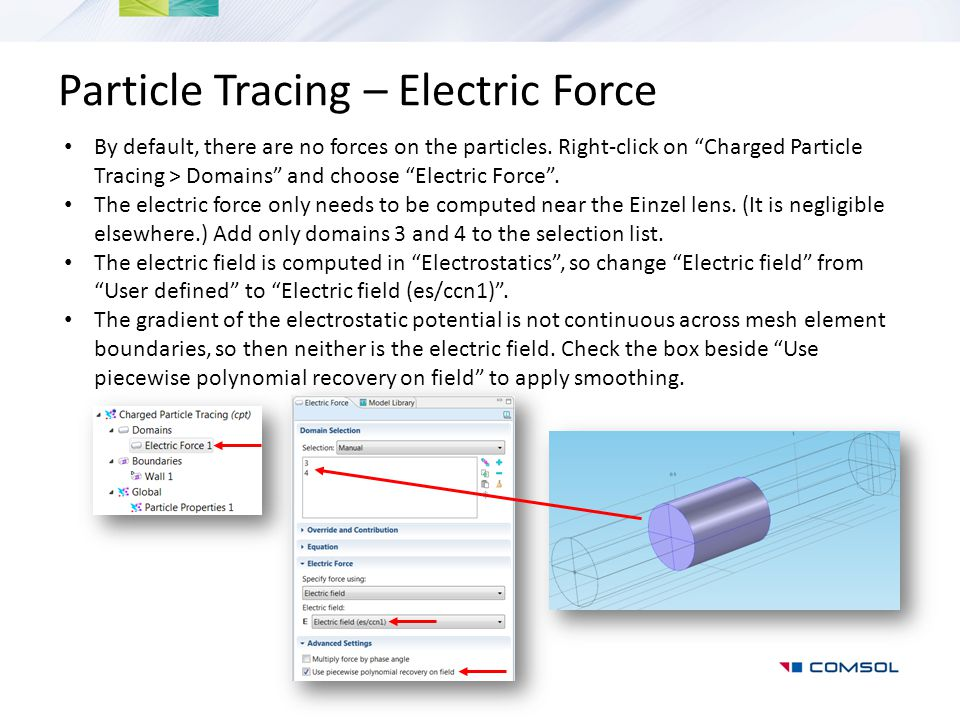 Particle Tracing – Electric Force
