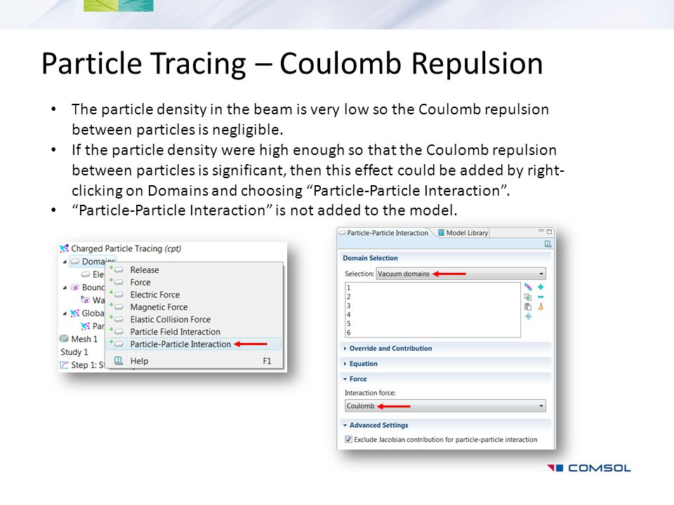 Particle Tracing – Coulomb Repulsion