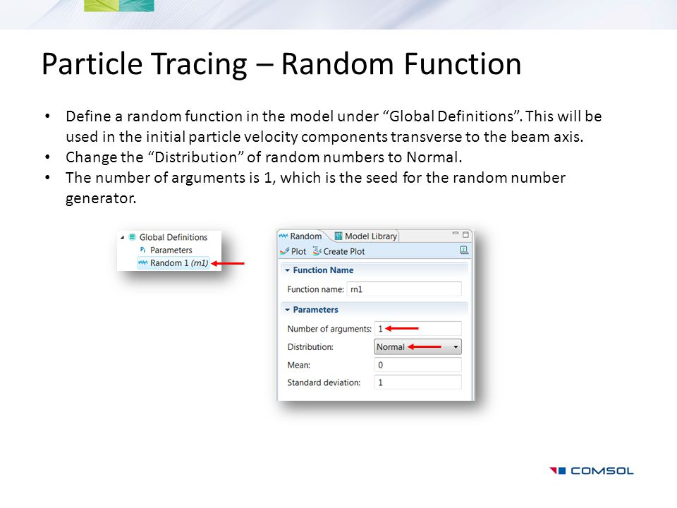 Particle Tracing – Random Function
