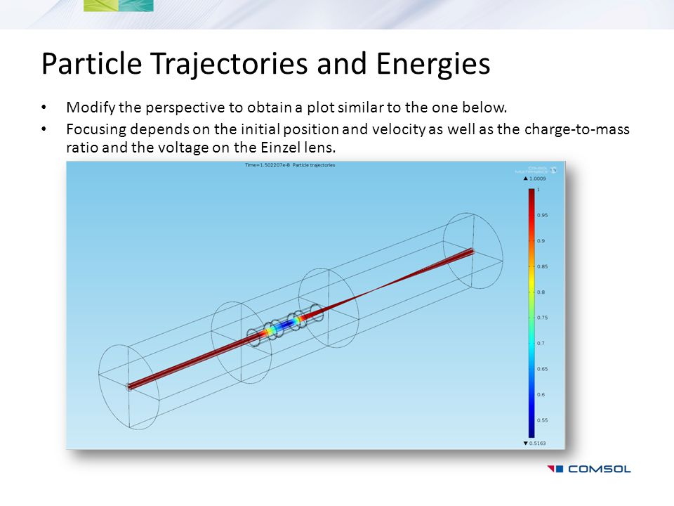 Particle Trajectories and Energies