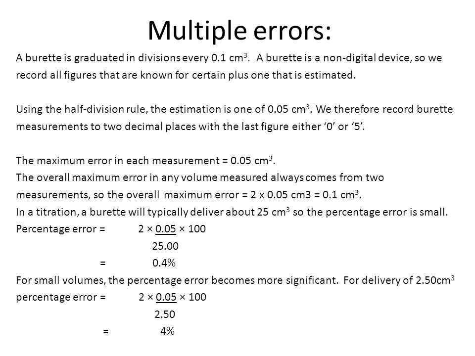 Multiple errors: