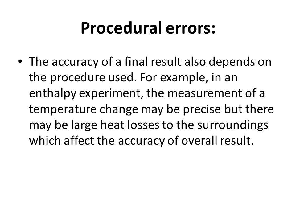 Procedural errors:
