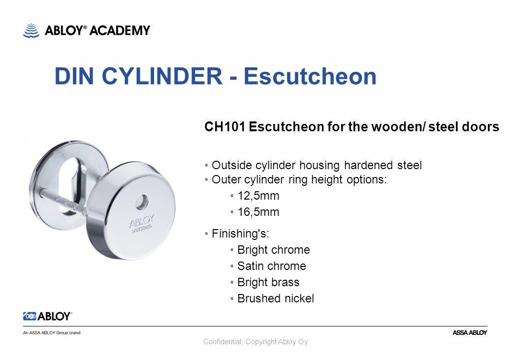 DIN CYLINDER - Escutcheon
